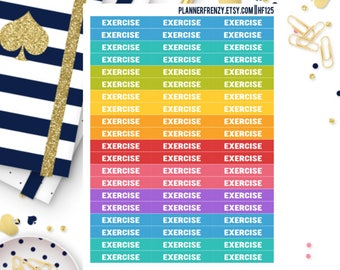 "60 ""Exercise"" Section Header Planner Stickers! HF125"