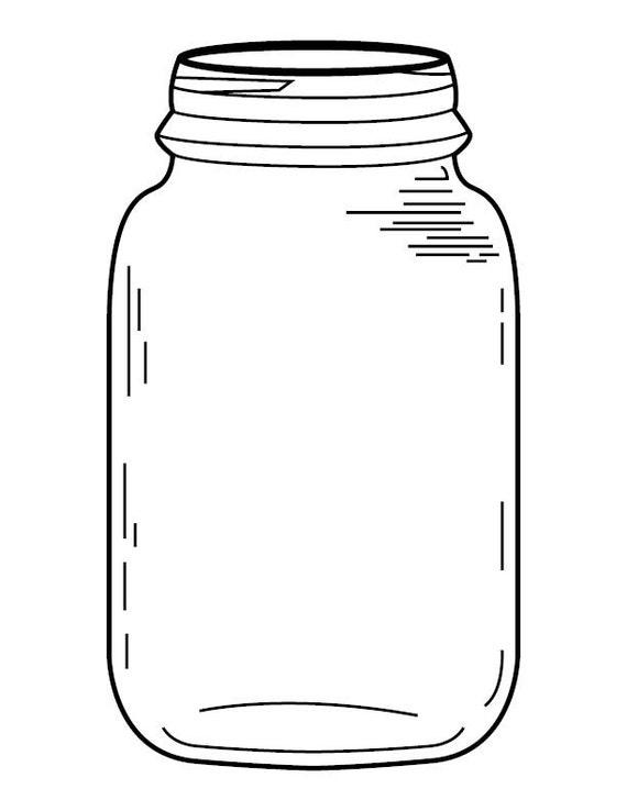 Fan image inside free printable mason jars