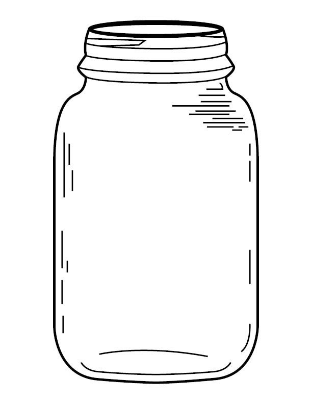 mason jar coloring page. Black Bedroom Furniture Sets. Home Design Ideas
