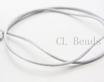 20 Meters of Round Rattail Cord - Silver 2mm