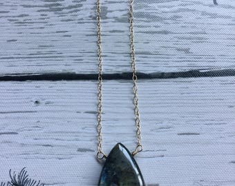 Labradorite necklace, 14k gold filled