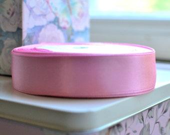1 yard pink satin ribbon I Pink ribbon I Satin ribbon I Shabby chic ribbon I Gift wrapping ribbon I Ribbon I Packaging I Accessory ribbon