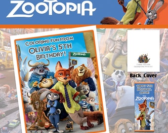 Zootopia Coloring Book with Crayons