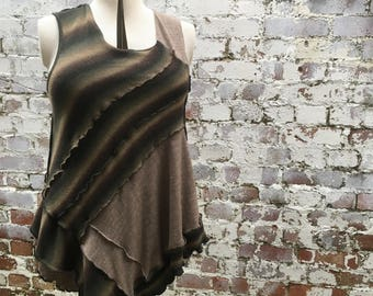 Earth Awakens/ Deffro'r Ddaear -  Upcycled Wool Tunic Dress