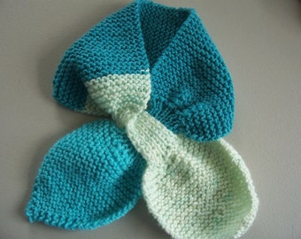 Scarf, keyhole scarf, bow tie scarf, neck warmer, comfortable, hand knit, machine wash