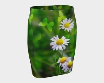 Daisy Skirt, spring skirt, flower skirt, butterfly skirt, nature skirt, summer skirt, daisy flower skirt