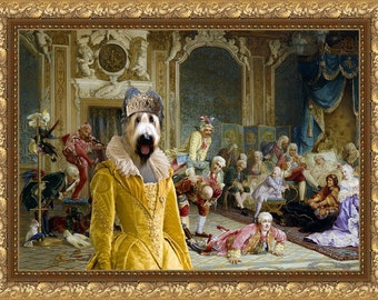 Briard Art CANVAS Print Fine Artwork  Dog Portrait Dog Painting Dog Art Dog Print  Perfect Dog Lover Gift for Her Gift for Him