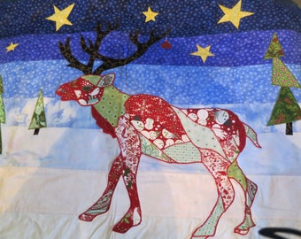 Randolph the Reindeer Wallhanging