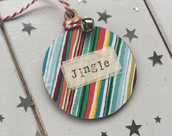 Personalised Christmas tree decoration - christmas tree ornament - personalised christmas tree decoration - hanging decoration - bauble