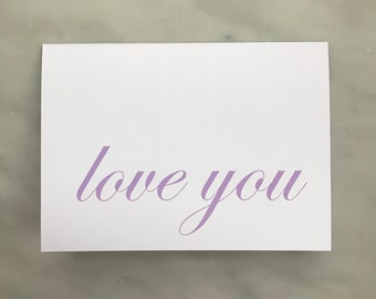 Love You Note Card - Ever So Pretty Paperie