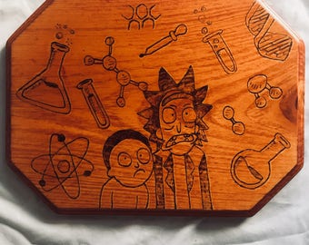 Rick and Morty Plaque
