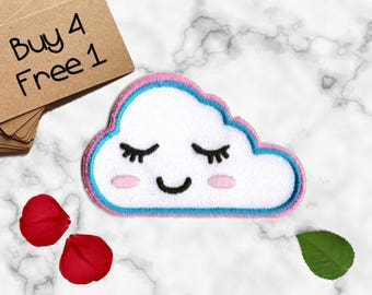 Cloud Patch Cute Patches Iron On Embroidered Patches