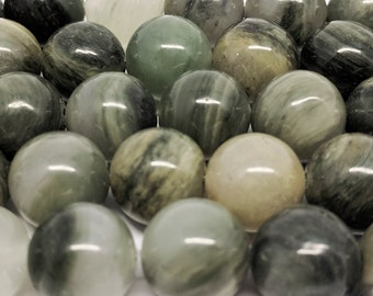 Actinolite Beads Gemstone Beads Natural Beads for Jewelry Making Jewelry Beads 10mm Beads for Bracelets Necklace Beads Jewelry Supplies DIY