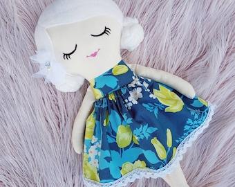 Handmade Cloth Doll, Fabric Doll, Rag Doll, Keepsake Doll, Heirloom 45cm OOAK