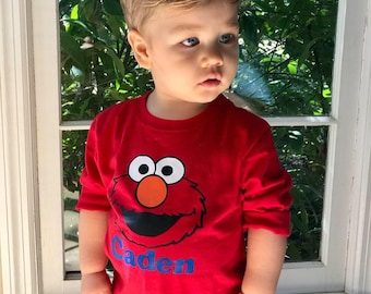 Customized Elmo Shirt Toddler 2T month to 5T