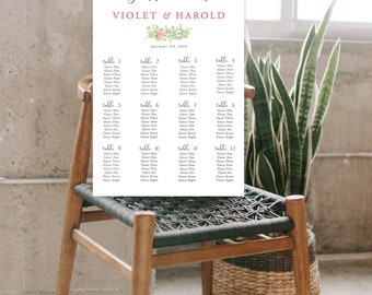 Seating Chart - Ranunculus Days (Style 13786)