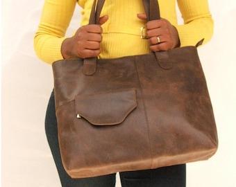 Leather shoulder bag women Leather bag Market bag  leather bag hand bag tote bag brown bag everyday leather bag  women's shoulder bag