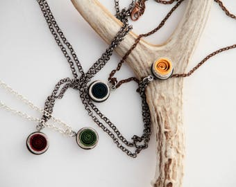 Harry Potter Jewelry Hogwarts House Necklace *pick your house* Quilled paper art