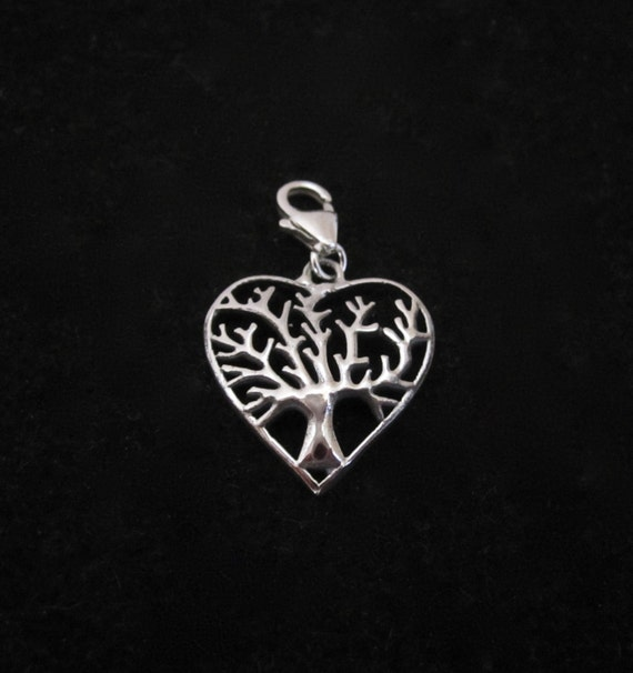 Sterling Silver Tree of Life Clip on Charm VPKyYB