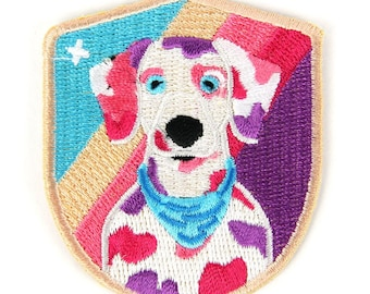 Cosmic Dalmatian Iron On Patch