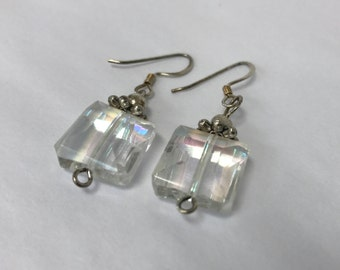 Square Crystal Iridescent Earrings