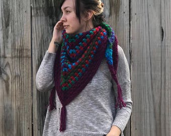 Crochet Shawl//Crochet Triangle Scarf//Crochet Wrap