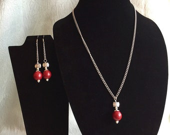Classy handmade beaded jewelry set