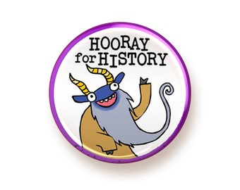 Hooray for History - button