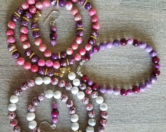 FOUR piece jewelry set! Mix and match your pinks. #pinklover