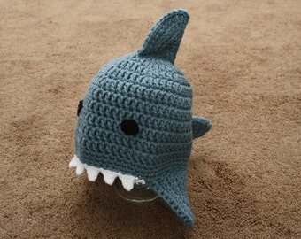 Crocheted Baby Shark Hat