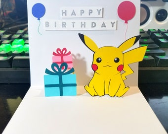 Pikachu card etsy pikachu card pop up pikachu card pikachu birthday card bookmarktalkfo Gallery