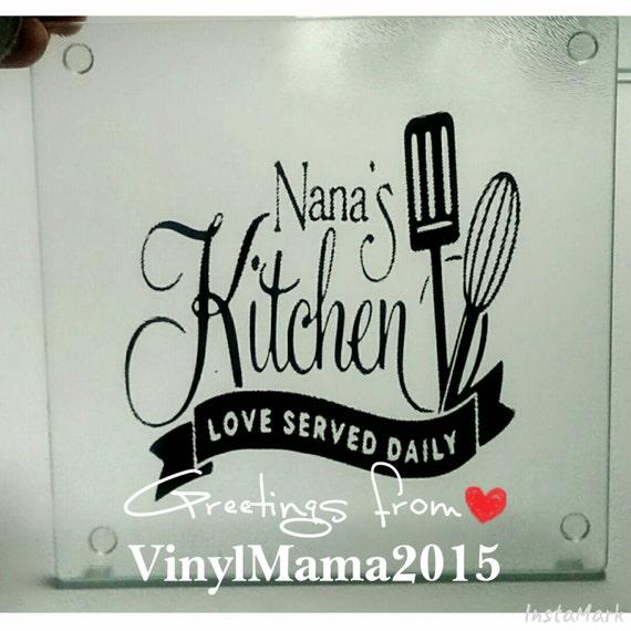 7.75 x 7.75 Nana\'s Kitchen Grandma\'s