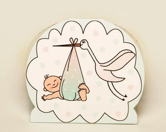 Stork and Baby favour boxes