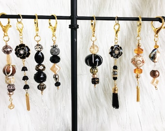 WHOLESALE HANDBAG PURSE Charms-Black/Brown Lot 1