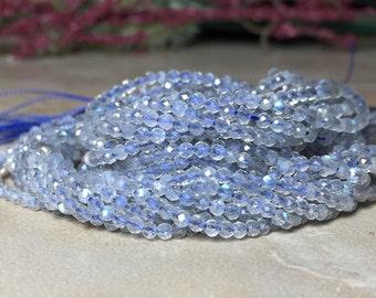 2mm Genuine Faceted Labradorite Gemstone Round 2mm Loose Beads 15.5 inch Full Strand, Labradorite Beads, Natural Labradorite Beads
