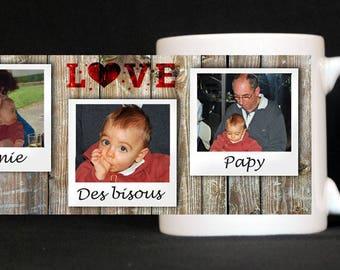 Love mug 3 prints, original gift