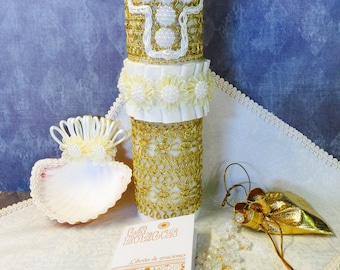 Baptism Candle Set- Juego de Vela de Bautizo - Bautismo
