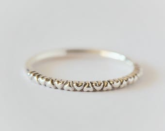 eternity heart ring, dainty ring, delicate ring, 14k white gold heart, gold minimal ring, 14k gold ring, jewelry