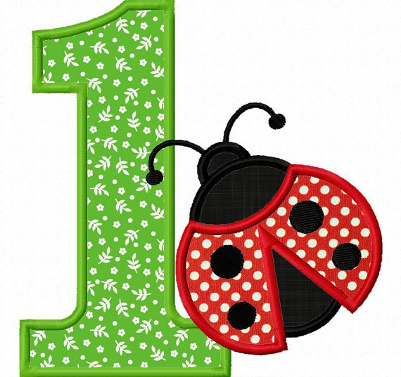 Instant download ladybug numbers 1 9 applique machine for Embroidery office design version 9