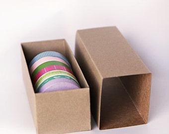 Set of 5- Kraft or White Slider Boxes- 6 5/16 x 2 1/2 x 2  inches