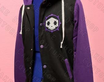 Sombra Overwatch Inspired Varsity Hoodie Jacket