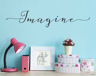 Imagine Decal - Inspirational Quote - Craft Room Decor or Art Studio Wall Decal