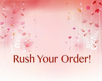Rush service for garments (made to order)