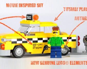 Taxi Driver New York Checker Cab Type A Yellow Cab MOC LEGO® Custom
