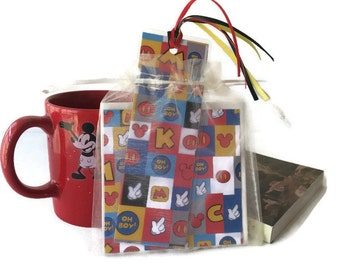Disney Mickey Mouse Gift Set  Book lover Teacher Gift Coaster Bookmark