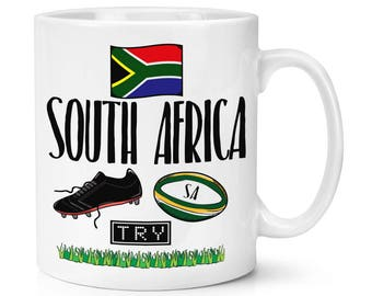 South Africa Rugby 10oz Mug Cup