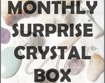 Surprise Crystal Box / Crystal Bundle / Crystal Subscription Box / Healing Crystals / Crystal Healing Kit / Gift for Her / Gift for Him