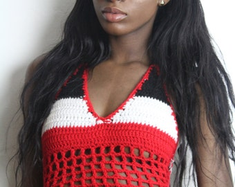 Trinidad crochet top, available in sizes A,B,C,D,DD Cup