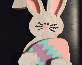 Customized Wooden Easter Bunny