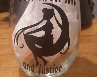 Sailor moon wine glass